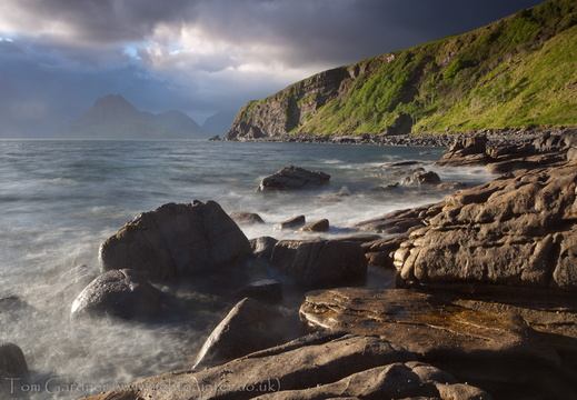 Stormy evening light, Elgol