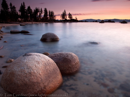Sunset at Sand Harbor Lake Tahoe, Nevada