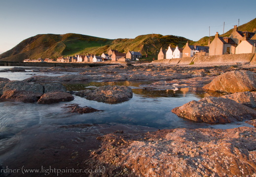 Crovie at sunset, Banffshire