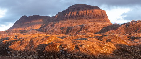 Evening light on Suilven, Assynt, Sutherland